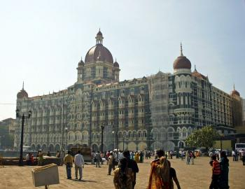 The Taj Mahal Palace and Tower, one of the sites of the 2008 terrorist in Mumbai, India, one year later. (Suren Rao/The Epoch Times)