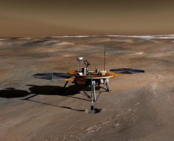 An artist's conception of the Phoenix Mars Lander on the Red Planet. The Phoenix Lander  landed on Mars on May 25, 2008. NASA declared that operations the Mars lander have ended following unsuccessful attempts to contact the spacecraft.  (NASA/JPL via Getty Images )