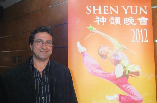 Keagan attends Shen Yun Performing Arts on it's opening night in Sydney. (Luke Hughes/The Epoch Times)