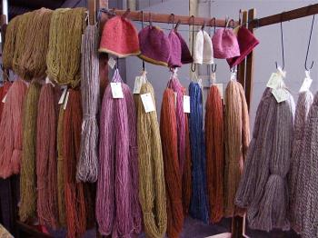 NATURAL DYES: Patricia Fortinsky of Tidal Yarns uses organically grown or sustainably harvested material for dying. (Louise McCoy/The Epoch Times)
