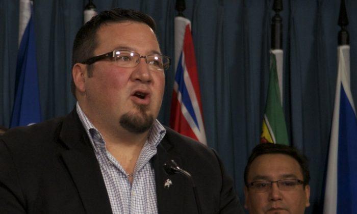 Grand Chief Derek Nepinak said Bill C-10 continues a legacy of incarcerating Aboriginals. (Matthew Little/The Epoch Times)