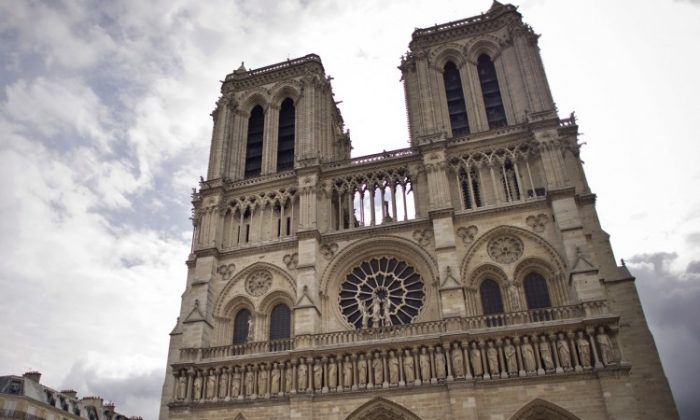 Some believe that harmony developed as a result of echo effects in the huge Notre Dame cathedral in Paris. (Bertrand Langlois/AFP/Getty Images)