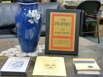 GIBRAN BOOKS: The Dahesh Heritage bookstore carries most of the works of mystical writer Kahlil Gibran. (Nadia Ghattas/Epoch Times)