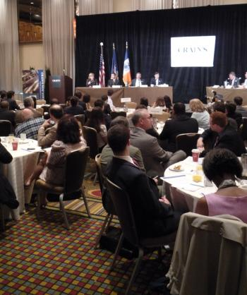 Candidates take part in the Crain's New York Breakfast Forum at the Hyatt.
