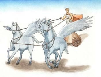 Pelops raced in a magical winged chariot to win his wife and his kingdom