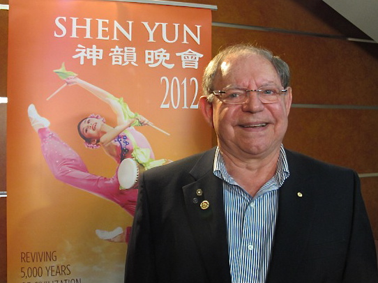 George Papallo attends Shen Yun Performing Arts at Sydney's Capitol Theatre. (Tahnia Smith/The Epoch Times)