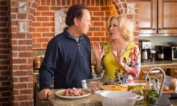 """Old school meets new school when Billy Crystal and Bette Midler as Artie and Diane Decker take care of grandkids played by (from left) Joshua Rush, Bailee Madison, and Kyle Harrison Breitkopf in the comedy """"Parental Guidance."""" (Kerry Hayes/ Twentieth Century Fox Film Corporation)"""
