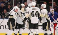 NHL: Red Hot Penguins Ease Past Rangers