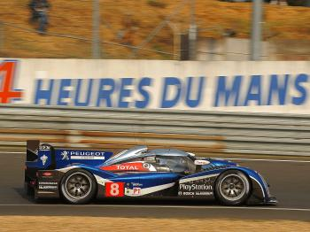 QUICKEST PEUGEOT: The #8 Peugeot piloted by Stephane Sarrazin turned in the fastest time of all the Peugeots, just .187 off the lead Audi's pace. (Courtesy Peugeot Sport)
