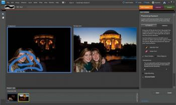 A demonstration of the Photomerge feature in Adobe Photoshop Elements 8. (Courtesy of Adobe)