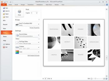 Backstage view in PowerPoint 2010.  (Courtesy of Microsoft)