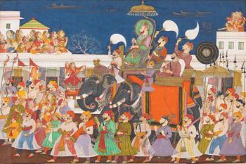 Procession of Raja Ram Singh II of Kota and his son at Kota, c.1850 (Victoria and Albert Museum, London)