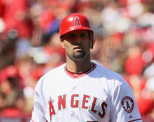 Albert Pujols is hitting just .217 though six games in 2012 for the 2-4 Angels. (Jeff Gross/Getty Images)