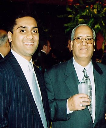 Suneet Kapoor (L) and his father Ramesh from Kapoor Galleries, Inc. (Courtesy of Suneet Kapoor)
