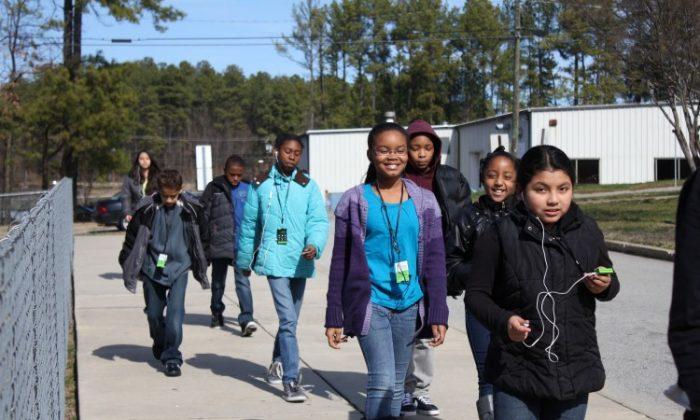 Laura Fenn was a fifth-grade teacher for over 15 years before she created The Walking Classroom. (Laura Fenn)