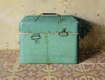 BOX: The Israeli painter Eran Reshef feels as if objects take the lead when he selects them to paint. 'Cooler,' by Eran Reshef, 2008, oil on wood. ((Courtesy of Eran Reshef))