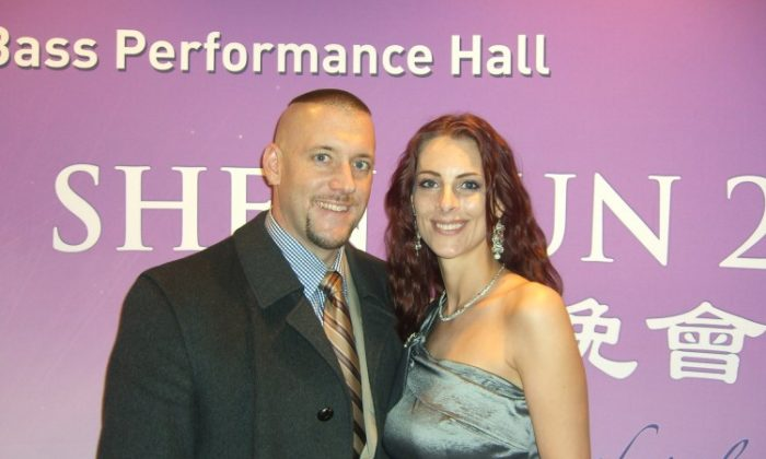 Mr. Aaron Weldon and Ms. Jennifer Martin enjoyed Shen Yun Performing Arts at the Bass Performance Hall in Forth Worth on Feb. 20. (Rich Rangel/The Epoch Times)
