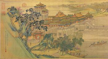Panorama of Along the River During Qingming Festival, an 18th century remake of the 12th century original (Wikimedia Commons)