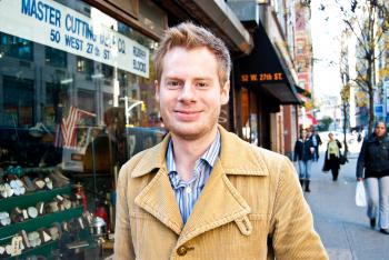 Ross Johnson, 24, business consultant, Brooklyn (By Joshua Philipp/The Epoch Times)