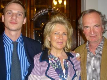 Rupert Simpson (L), with his parents at Shen Yun Performing Arts in London. (The Epoch Times)