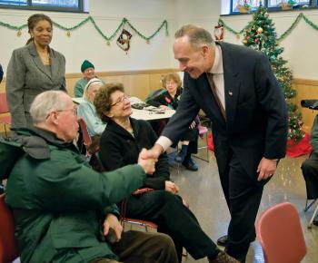 Sen. Charles Schumer called on President Obama on Wednesday to release federal funds to help seniors and low-income New Yorkers pay their heating bills this winter. (Aloysio Santos/The Epoch Times)