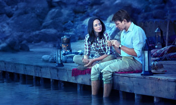 "Emily Blunt and Ewan McGregor in the comedy-drama-romance ""Salmon Fishing in the Yemen,"" a film about a fisheries expert and a consultant who help realize a sheik's vision of fly-fishing in the desert. (CBS Films Inc.)"