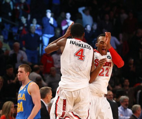Moe Harkless (4) was named Honorable Mention All-Big East Sunday. (Chris Chambers/Getty Images)