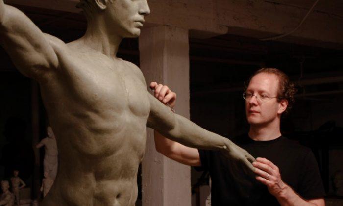 "Sabin Howard, ""Apollo"" and ""Aphrodite,"" bronze. (Courtesy of the artist)"