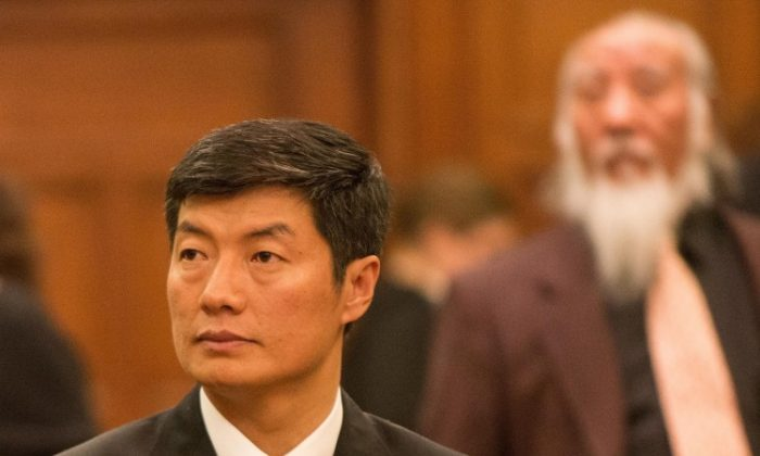 Lobsang Sangay, leader of the Tibetan government-in-exile, called on Canada to investigate the cause of self-immolations in his homeland during testimony on Parliament Hill, Feb 26, 2013. (Matthew Little/The Epoch Times)