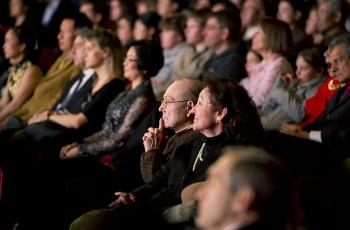 An engrossed audience watches Shen Yun Performing Arts at the Lincoln Center's David H. Koch Theater on Jan. 6, 2011. (Epoch Times Staff)