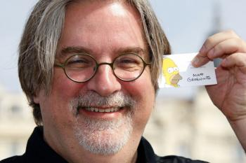 Matt Groening, creator of 'The Simpsons.' The show will be honored by the Paley Center for Media on Dec. 8. (Valery Hache/AFP/Getty Images )