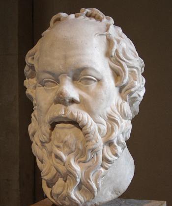 Marble statue of Socrates.  (Public domain)