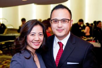 San Jose Business Journal, Song Woo, President and founder of Lighthouse Management Group (LMG), and his wife. (Abraham Thompson/The Epoch Times)