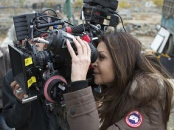 ON LOCATION: Sonia Nassery Cole, on location in Afghanistan, directing the shooting of 'The Black Tulip.'(Courtesy of Breadwinner Productions)