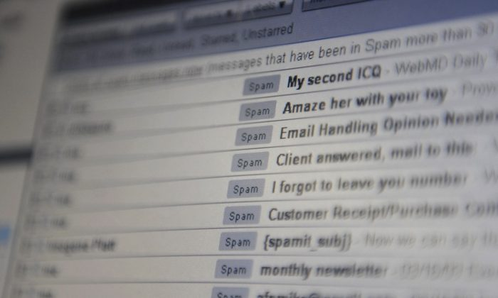 A computer screen inbox displaying emails (Mike Clarke/AFP/Getty Images)