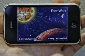 Apple's Star Walk, a planetarium app for the iPhone and iPad, brings the stars and planets into your hands. (Aloysio Santos/The Epoch Times)