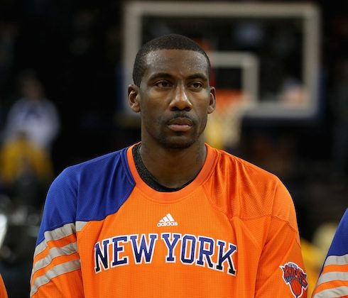 Amar'e Stoudemire will be away from the Knicks following the death of his brother. (Ezra Shaw/Getty Images)