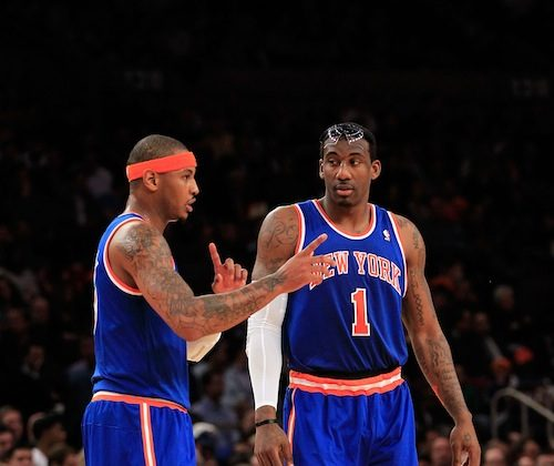 New York's offense may not be big enough for both Amar'e Stoudemire (L) and Carmelo Anthony's shooting prowess. (Chris Trotman/Getty Images)