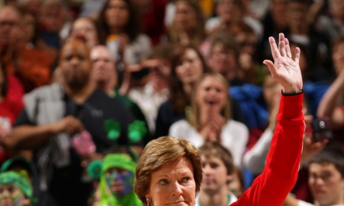 Pat Summitt retires with more wins (1,098), titles (8), and Final Four appearances (18) than any women's coach in NCAA history. (Doug Pensinger/Getty Images)