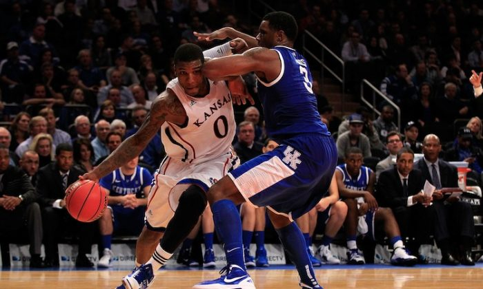 Kentucky's defense limited Kansas power forward and leading-scorer Thomas Robinson (L) to just 11 points in their November 15 contest which the Wildcats won. (Chris Trotman/Getty Images)