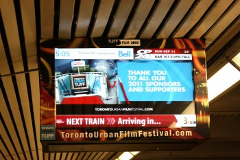 Silent Films on Display at Subway Stations During TIFF
