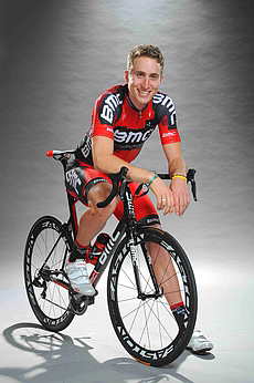 21-year-old Taylor Phinney led the BMC team to victory in the Giro del Trentino Stage One team time trial. (bmcracingteam)
