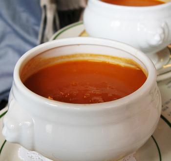 Smooth, rich, creamy tomato bisque. (Russ/London)