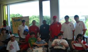 Kids Inspire Toronto FC Soccer Players