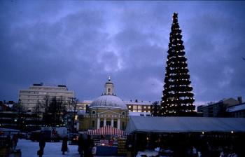 The Christmas tree with real candles was brought to Finland by the Germans.  (Courtesy of Elke Backert)