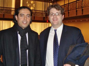 Hicham Enhali and Oliver Reeves attended the Thursday evening performance. (Pamela Tsai/The Epoch Times)