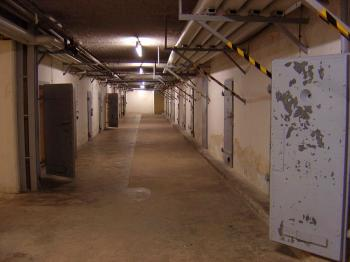 The hallway outside the prison cells in the Berlin-Hohenscoenhausen's prison was called 'submarine,' because the cells had no windows. (Courtesy of the Hohenschoenhausen memorial place)