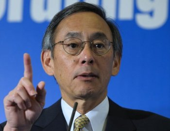 Dr Steven Chu, Sec of Energy, speaks in London, on October 13, 2009. Last week, the Steven Chu announced that up to $62 million would go to selected solar power projects for development and research.  (Frantzesco Kangaris /Getty Images)