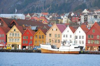 HISTORIC HOMES: The wood plank homes of the Bryggen neighborhood in Bergen hark back to olden days. (Wes LaFortune)