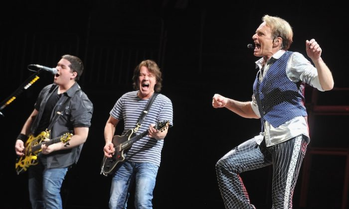Rock band Van Halen perform during their 'A Different Kind of Truth' tour on Feb. 18 in Louisville, Ky. (Theo Wargo/Getty Images)